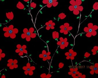 RARE FLOWER FABRIC Florentina by Valori Wells for Free Spirit Fabric -  1 Yard - F13