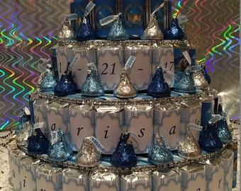 Cinderella Themed Candy Cake, Cinderella Candy Cake, Cinderella Cake, Candy Cake