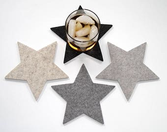 Star Drink Coaster Set Coasters for Drinks Housewarming Hostess Gift
