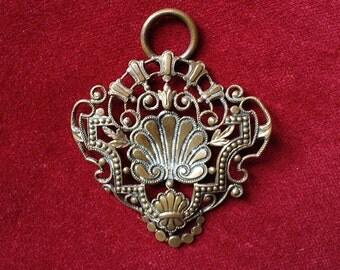 Gorgeous art nouveau shell part of a buckle or pendant