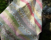 RESERVED FOR KATHRYN Jelly Roll Race Quilt, Ambleside fabric