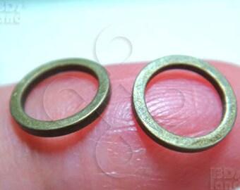 last stock -50% / C109RH / 72Pc  / Diameter 8mm - Rhodium Color Square Profile Closed Ring