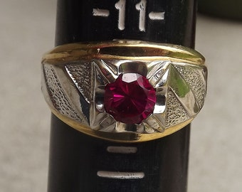 1960s Lind 14K THGE men's ring - charity for animals