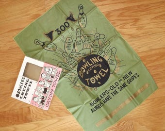 1950s bowler's crying towel - charity for cats and kittens