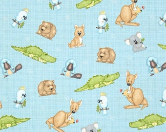 Adorable Fabric with Australian Animals (by the yard)