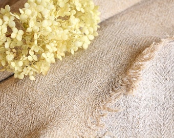 RW 521 : antique handloomed laundered 3.06 yards french 리넨 two-toned upholstering curtain projects wedding OATMEAL