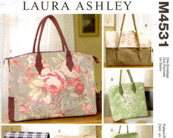 McCall's Crafts 4537 Sewing Pattern - Laura Ashley Fashion Accessories - Business Bags - Business Purses - Tote Bags - Business Totes