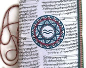 Aquarius Journal, White journal, Blank writing journal, Aquarius symbol, Unisex Gift, Aquarius Gift, Aquarius Zodiac, Aquarius Astrology