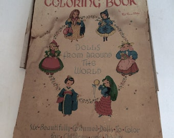 Oversized Vintage Coloring Book