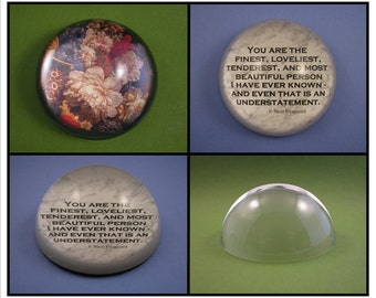 Custom Medium Dome Glass Paperweight Personalized with Your School, Club, Team, or Organization Logo, Photo or Quote