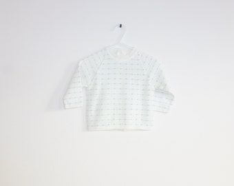 Vintage Blue and White Baby Sweater