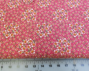 Northcott Fabric - Bella Line - Dark Pink With Light Pink Flowers by Ro Gregg -  CLEARANCE SALE