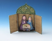 Nativity , Nativity Ornament, Nativity Diorama, Nativity Ornaments, Nativity Ornament Diorama