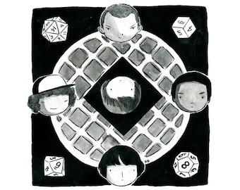 11x11 - The Other Side - Stranger Things Fan Art - Fine Art Print