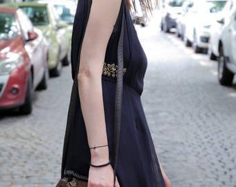 Beautiful Summer Navy Blue Dress M