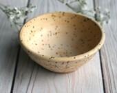 Prep Bowl, Small Speckled Ceramic Bowl in Matte Vanilla Glaze Ready to ship Made in USA