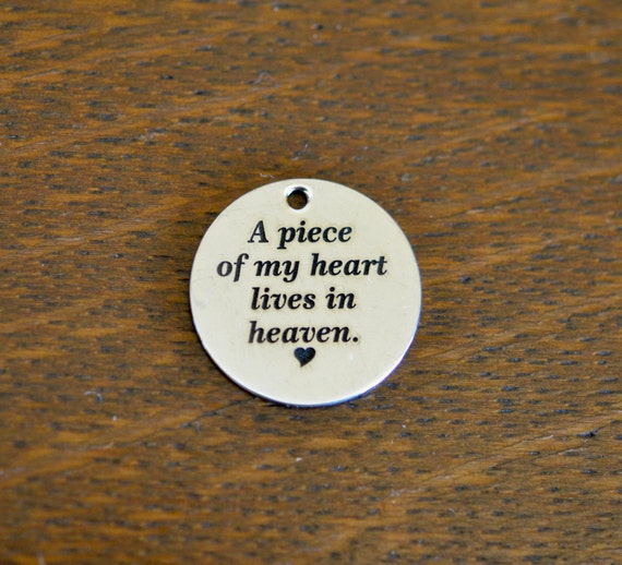 A Piece Of My Heart Lives In Heaven Custom Laser Engraved