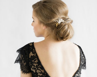 POSIE | wedding hair pin, gold bridal hair piece, bridal hair pin