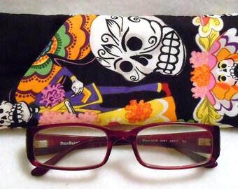 Day of the Dead Los Muertos Skulls Skeletons - EyeGlasses, Sunglasses, Holder, Case, Cozy