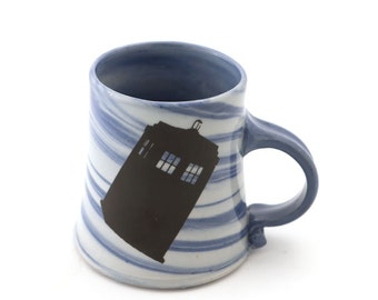 Doctor Who mug - wibbly wobbly timey wimey - Dr. Who - gift for Whovian - TARDIS - Tardis mug