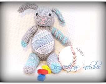 Teddy bear/ Knitted Bunny teddy bear/stuffed animal/knitted softies - Toutou/ petit mouton fait au tricot