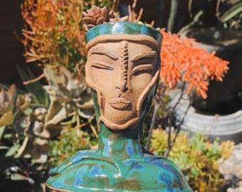 ceramic vase sculptural art vase flower holder