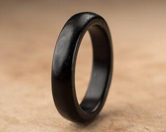 Size 9.5 - Ebony Wood Ring No. 206