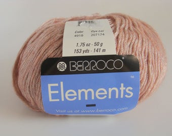 Berroco Elements Yarn - Color 49118 Soft Rose  - Downsizing SALE  Must Go!