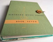 Watercolor Sketchbook, 'Music Series' upcycled vintage book cover filled with watercolor and fine art papers