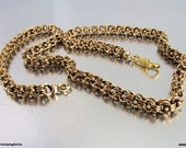 Antique Victorian 18K Belcher Chain Necklace with Dog Clip 18K Solid Gold Book Chain Collar Necklace Watch Fob Locket Chain 36 grams