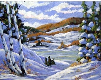 On Sale Majestic Winter Original Oil painting created by Prankearts