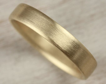 4x1.5mm Edgeless Mens Comfort Fit Wedding Band - Gold or Palladium - Recycled, Eco-friendly Ethical Wedding Ring - Soft Rounded Ring
