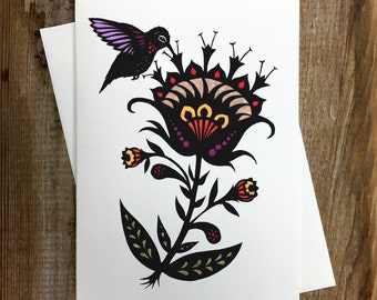 Humming A Sweet Song - Greeting Card