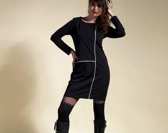dress sixties , dress seventies, dress black Emma Peel