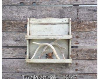 Wall Shelf - Bathroom Shelf - Wood Wall Shelf - Spice Rack - Essential Oils Storage - Wooden Shelf - Kitchen Shelf - Small Vintage Shelf