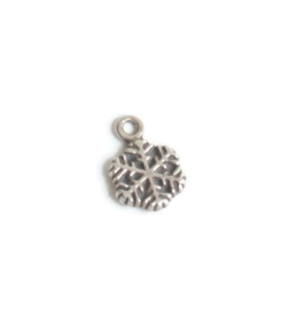 Sterling Silver Snowflake Charm Tiny Charm for Charm Bracelet