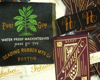 Vintage Antique Labels Monagrams