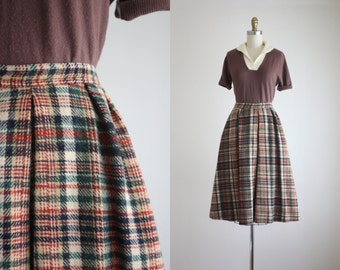 1960s plaid skirt