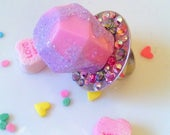 Custom* *Reserved* Ring Pop Ring, Kawaii Jewelry, Candy Ring, Resin Ring, Pop Art Jewelry, Kawaii Ring, Cotton Candy Ring, Candy Ring