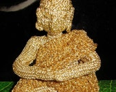 HALF PRICE SALE Instant Digital file pdf download Golden Buddha Knitting pattern by madmonkeyknits pdf download only