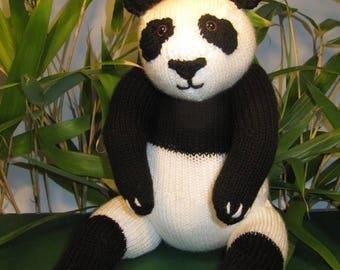 50% OFF SALE Instant Digital File PDF Download Panda Bear Toy pdf knitting pattern