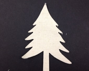 Canvas Evergreen Die Cut Tree Shape