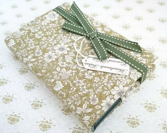 Small Fabric Covered notebook