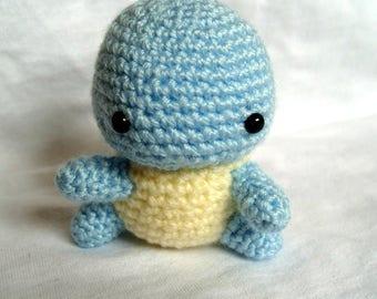 Crochet Squirtle Amigurumi Pokemon Stuffed Squirtle Toy Plushie