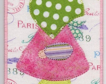 Summer Sue, A Sunbonnet Sue Quilted Fabric Postcard