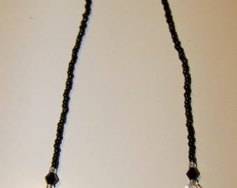 Black & Clear bead necklace