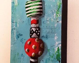 Contemporary Abstract Mixed Media Acrylic Painting - Balancing Act 01