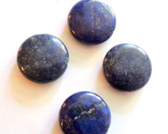 Lapiz lazuli beads, blue stone beads, loose gemstones, lapis coin beads, lapis gemstone beads, lapis lazuli disc beads, 18mm, 4pc