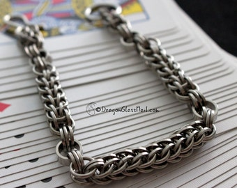 Steel Chain Bracelet, Full Persian Chainmaille