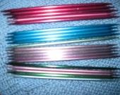 Knitting Needles Double Pointed 4 Sets Sizes 6 7 8 9 Aluminum Needles Free US Shipping!